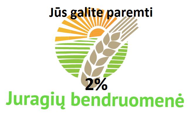 2 %  Juragių bendruomenės centrui