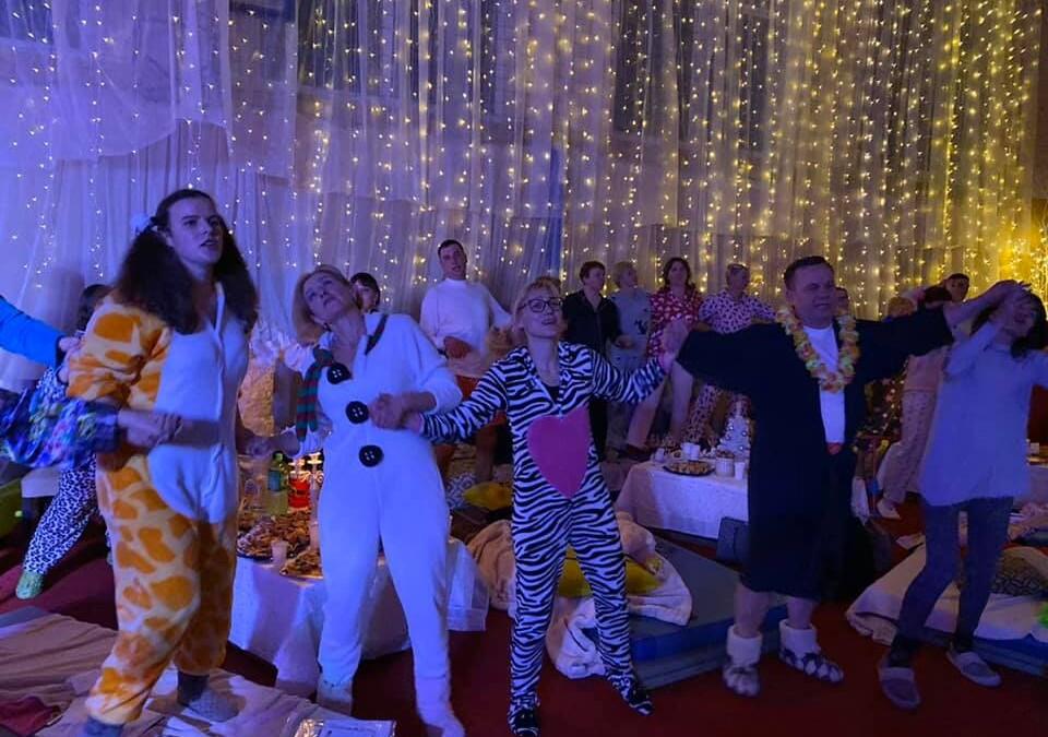 Pižamų vakarėlis Panevėžiuko kaimo bendruomenėje